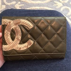 Chanel Quilted Lambskin Leather Cambon Wallet